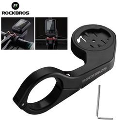 Handlebar Gps Australia - ROCKBROS Cycling Bicycle Bike Computer Speedometer Holder GPS MTB Bike Bicycle Seat Extension accessories Handlebar Edge #225551