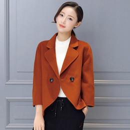 $enCountryForm.capitalKeyWord Australia - Woolen Coat Female Short Paragraph 2019 Autumn Winter Korean Fashion Solid Color Wool Blazer Women Shawl Coat Office Wear f1326