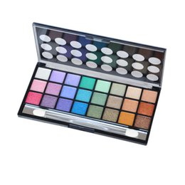 glitter sets for eyes UK - 24 color pearl eye shadow set sea sand 24 color wine eye shadow earth eye shadow for free shipping