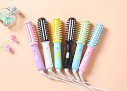 Heated Roller Hair Australia - Wholesale-Free shipping Mini Portable Hair Sticks curling irons Electric roll comb curling hair roller hair curlers electric heating rod