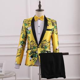 Studio Suits Australia - Singer stage suits men blazer Chorus performance costume photo studio boys prom mariage suits fashion slim chorus groom clothes