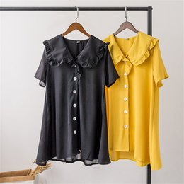 Fairy Style Dresses UK - Sweet Fairy Dresses Summer New Loose Doll Necktie Short Sleeve College Style Fashion Female Young Trend Good Service Jooyoo