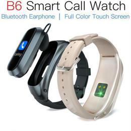 Опт JAKCOM B6 Smart Call Watch Новый продукт от других продуктов видеонаблюдения в cartera Curren военные часы полос