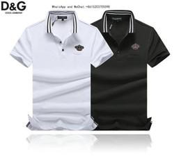 Cotton Thermal Wear Australia - 2019 New Pattern European Fashion Trend Whole Cotton Men's Wear Short Sleeve Lapel T T-shirt Leisure Clothing