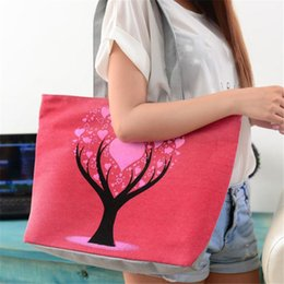 Cute Canvas Handbags Australia - Cheap Cute Printing Women Canvas Bags Shoulder Bag Casual Handbag handbag for women 2019 women bag 0813