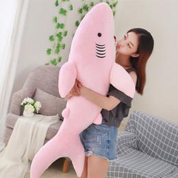$enCountryForm.capitalKeyWord Australia - 50 70 80cm Giant Shark Plush Shark Whale Stuffed Fish Ocean Animals Kawaii Doll Toys For Children Kids Cartoon Toy Baby's Gift J190717