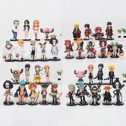 Discount one piece action figures zoro - one piece figure anime One Piece Figures Monkey D Luffy Roronoa Zoro Nami Usopp Sanji Tony Chopper Nico Franky Brook PVC