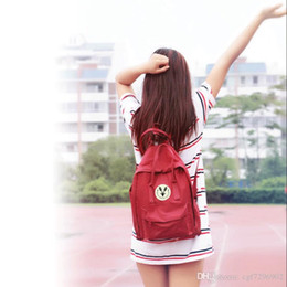 Small child School online shopping - High quality canvas material bag brand handbags men and women backpack children school bags multiple colors optional