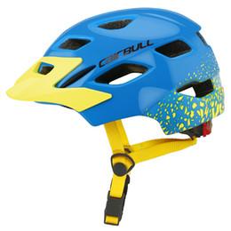 $enCountryForm.capitalKeyWord Australia - Lightweight Cycling Skating Sport Helmet with Safety Light Kids Bike Helmets for Boys Girls