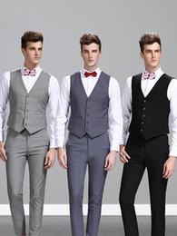 $enCountryForm.capitalKeyWord Australia - 2019 Single Breasted Sleeveless British Style Mens Suit Waistcoat Custom Made Slim Fit Blazers Wedding Tuxedo Vests For Men(Vest+Pants)