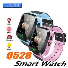 kids sos gps smart watch Australia - GPS Children Smart Watch Anti-Lost Flashlight Baby Smart Wristwatch SOS Call Location Device Tracker Kid Safe vs Q528 Q750 Q100 Q42 DZ09 U8