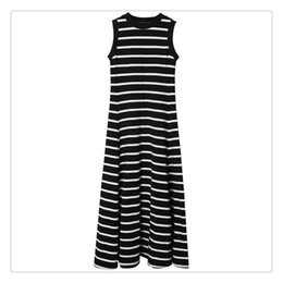 wholesale maxi evening dresses UK - Womens Backless Dress Summer Dresses Formal Dresses Evening Sexy Ladies Stripes Long Maxi Evening Black And White Striped A Line Maxi Dress