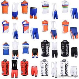 cycling jerseys rock 2019 - RABOBANK ROCK RACING team Cycling Sleeveless jersey Vest (bib) shorts sets 100% Polyester 3D gel pad ropa ciclismo E0506