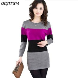 $enCountryForm.capitalKeyWord Australia - 2019 New Spring Long Pullovers Women Sweater Dress High Quality Cashmere Sweater Women Cheap Winter Clothes Stripe Tops 8 Colors T4190610
