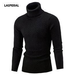Crochet Sweater Xl Australia - Lasperal Men's Turtleneck Solid Color Casual Sweater 2019 New Autumn Winter Men's Sweater Men's Slim Fit Brand Knitted Pullovers T190618