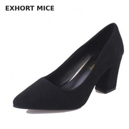$enCountryForm.capitalKeyWord NZ - High Heels Women Pumps Sexy Nightclub Wedding casual shoes Pointed Toe Parties Dress Slip-on Summer Flock Shallow Square Heel