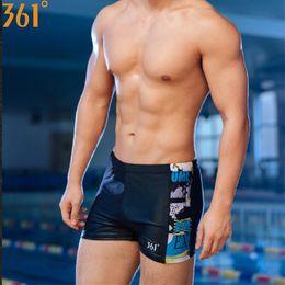 e1000d02ae 361 Professional Men Swimwear Black Blue Boxer Swimming Trunk 2018 Swim  Shorts for Men Boys Swimsuit Brief Swim Suit for