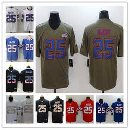 2019 New Mens 25 LeSean McCoy Jersey Buffalo Bills Football Jerseys 100% Stitched  Embroidery Bills LeSean McCoy Color Rush Football Shirt a62ebdcb7
