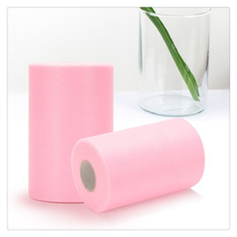 Supplies For Party Decoration Australia - Party Pink Tulle Decoration Bolt Roll Spool Extra Large for Wedding Party Decoration Festive Supplies Wedding Romantic