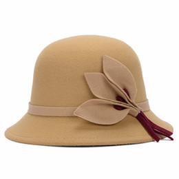 5924d4ac91c Ladies Women Vintage Imitation Wool Hat Fall Winter Cloche Bucket Cap  (Camel)