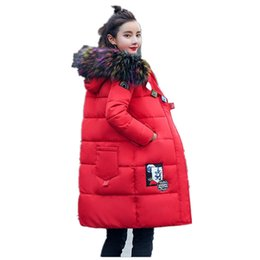 Womens Green Winter Parka Australia - Fashion Snow Wear Large Fur Collar Ladies Coats 2017 Winter Coat Women Parka Long Thick Womens Coats And Jackets Outerwear k130