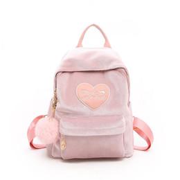 good quality New Women 2019 Cute Backpack For Teenagers Embroider Heart  Solid Backpack Kawaii Girls Backpacks Feminine Packbags 7499a3817e414