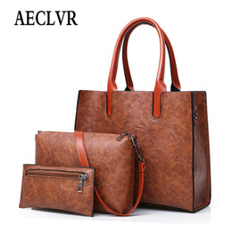 $enCountryForm.capitalKeyWord Australia - AECLVR Women Composite Shoulder Bag Large Woman Messenger Bag Female PU Leather Handbag Office Lady Brand Three Pieces Tote Bags