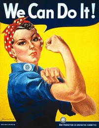 Spray Can Painting Australia - We Can Do It Rosie The Riveter Vintage wall decor Art Silk Print Poster 97