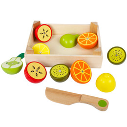$enCountryForm.capitalKeyWord Australia - Montessori Toys Educational Wooden Toys for Children Early Learning 3D Kitchen Cutting Fruit Vegetables Board Real Life Toy