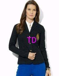 $enCountryForm.capitalKeyWord Australia - Offer American Fashion Women Casual Polo Jackets Long Sleeve Lady Business Coat Single Breasted Formal Jackets for Girls Black