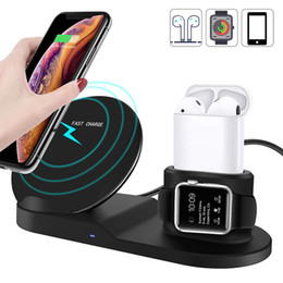 $enCountryForm.capitalKeyWord Australia - 3 In 1 W10w Qi Fast Phone Wireless Charger Stand For Iphone Xs xs Max xr x  8 8 Plus samsung S9 S8+apple Iwatch Series 1 2 3 4 J190704