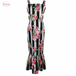 Women ruffled tank online shopping - Printed Floral Tube Dress Women For Summer Fashion Ruffles Slim Fit Tight Bodycon Night Out Pencil Tank Dresses