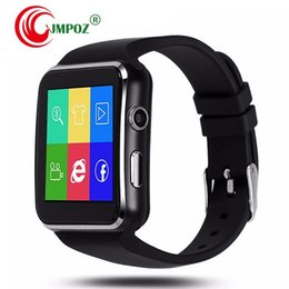 $enCountryForm.capitalKeyWord Australia - new Curved Screen X6 Smart Watches Bracelet Phone support a SIM Card Slot With Camera For iPhone Samsung Better DZ09 V8 Q18 GT08