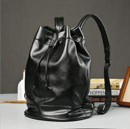 Korea Leather Man Bag Australia - Factory wholesale male bag British style brand backpack South Korea Institute wind soft leather schoolbag fashion leisure travel bag