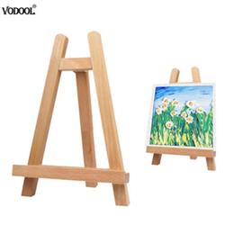 Mini Artista De Madeira Dobrável Pintura Cavalete Quadro Ajustável Tripé Prateleira de Exposição Ao Ar Livre Estúdio Display Frame