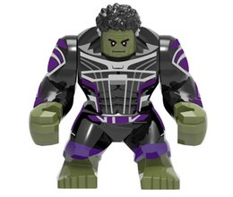 $enCountryForm.capitalKeyWord Australia - Marvel's Avengers 4 Building Blocks X1051 Superhero Series Assembling Blocks Adults Green Hulk cartoon toys free shipping