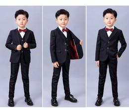 $enCountryForm.capitalKeyWord Australia - Fat boy suit children's small business suit large flower girl dresses boy black suit han edition