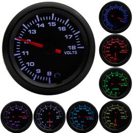 Gauges Pod Australia - 2 inch 52mm 7 Colors LED Boost Water temp Oil temp Oil pressure Voltmeter Air fuel ratio EGT Tachometer RPM Car Gauge +Gauge Pods