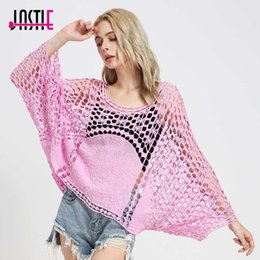 Shirt Poncho Australia - Jastie Floral Embroidered Shirt Top Patchwork Crochet Lace Poncho Bluas Batwing Sleeves Loose Boho Tops Graphic Tees Women Y19042101