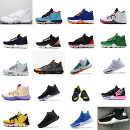 e63288bc1bc1 Kyrie basketball shoes mens 5s Black Taco Galaxy White Gold Blue Brazil  Green Yellow Youth Kids kyries irving sports sneakers boots with box