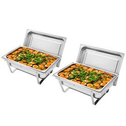 9L 8 Quart термос из нержавеющей стали 2 Packs стол Плита Снабженец Ресторан Питание грелки Лоток для партии свадьбы на Распродаже
