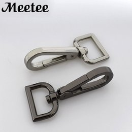 10x Metal Paracord Snap Hook Silver Tone 9mm Oval Swivel Snap Clip Bag Key Ring