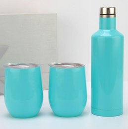 SportS car Shape online shopping - 3pcs set Wine Glasses Set oz Egg Shaped Mug ML Stainless Steel Double Wall Vacuum Flask Insulated Beer Sport Car Cups OOA5970