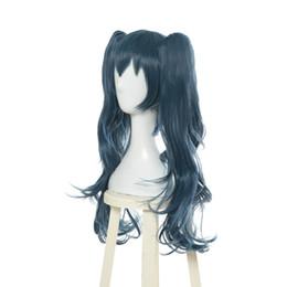 $enCountryForm.capitalKeyWord UK - Tokyo Ghoul Re Yonebayashi Saiko Cosplay Wig 2 Clip Ponytails Blue Wavy Hair