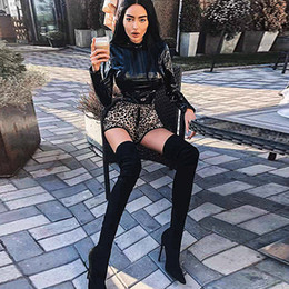 Leather Fashion Jumpsuits Australia - Womens Jumpsuits 2019 Spring & Autumn New Sexy Laser Jumpsuit Fashion Tights Nightclub Reflective Leather Clothing