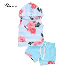 Floral Hooded Vest Australia - 0-3Y Newborn Toddler Baby Boy Girl Sleeveless Floral Hooded Pullover Tops+Shorts Pant 2PCS Outfits Summer Clothes