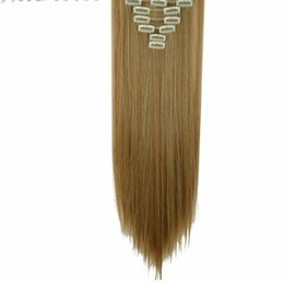 Chinese  17-26 Inches 8pcs set Full Head Clip In Hair Extensions Real Natural Synthetic 18 Clips Ins Hairpieces manufacturers