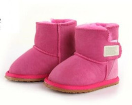 babies snow boots NZ - 2O18 Australia high quality Classic Baby Snow boots Australia WGG Classic Style Cow Suede Leather Waterproof Winter Cotton boots Warm Boots