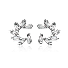 Silver Elements Australia - ED667 korean and japanese style silver color earrings christmas Geometric elements crystal fashion women earring accessories