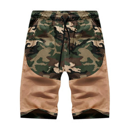 camouflage short pants for men 2019 - Camouflage Shorts for Men Cotton Sportswear Sweatpants Casual Shorts Pants Men Cargo Summer Black Khaki discount camoufl